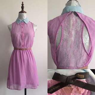 Lavander Lace on Back Dress