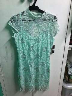 Floral Dress (mint green)