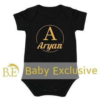 Romper Nama Baby Gred A+ Hitam @Shopee