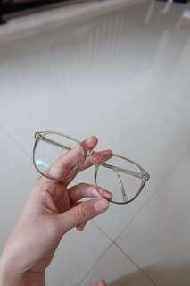 Eyeglasses/ kacamata transparant kekinian