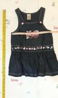 3T girl outfit - Guess denim jumper dress
