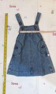 12 mo girl outfit - Carter's denim jumper dress