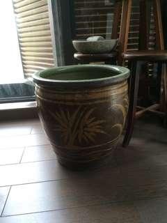 Antique Pot Vase Aquarium Vintage Urn Gardening Water Lily