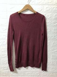 🚚 giordano/ladies 50%羊毛側釦針織衫