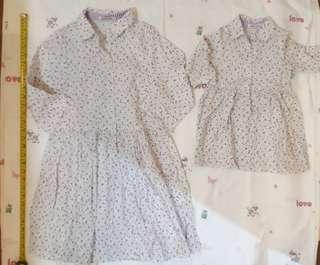 Matching girls outfit - Great Kids collared dress 2 yo and 14 yo