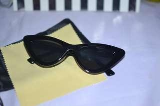 Lolita Retro Summer Cat Eye Tint Sunglasses Shades Black