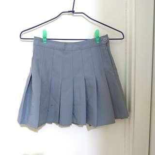 🚚 灰色 百摺裙 百褶裙 短裙 安全褲 灰
