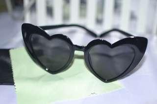 Women Retro Sunglasses Fashion Lolita Heart Shape Vintage Eyeglasses