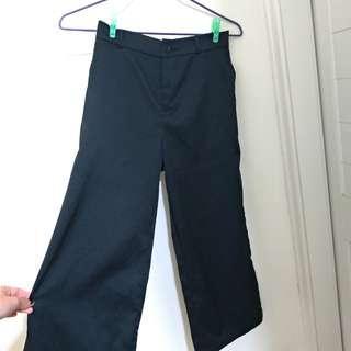 🚚 正韓 寬褲 黑色 長褲