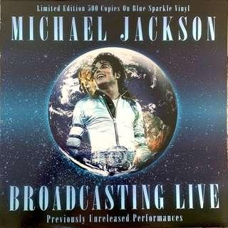 Micheal Jackson Live-limited blue vinyl