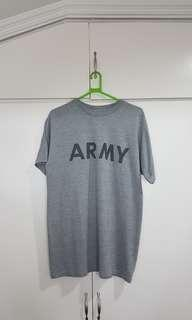 "Gray Shirt ""Army"" Size XL for Men"
