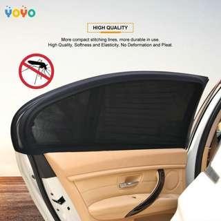 2Pcs Car Door Window UV Protection Shield Sun Shade Visor Cover Universal Black