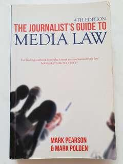 The Journalist's Guide to Media Law (4th Edition)