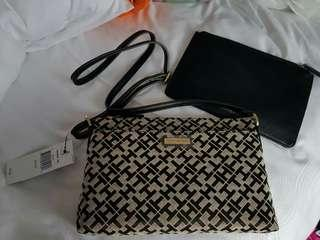 Tommy Hilfiger Crossbody / Sling Bag With Pouch