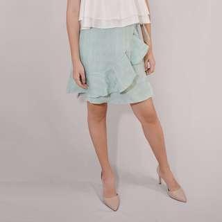 Teal wrap around skirt