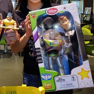 Limited Edition 1/6000 Toy Story Woody and Buzz from Disney Store