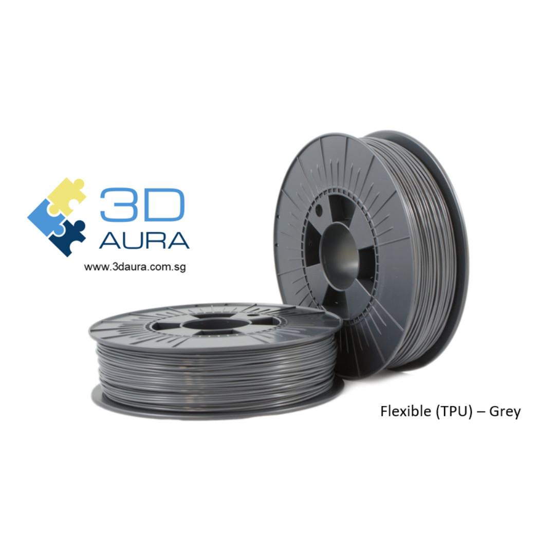 3D AURA TPU 1 75mm 800g 3D Printer Filament (Grey)