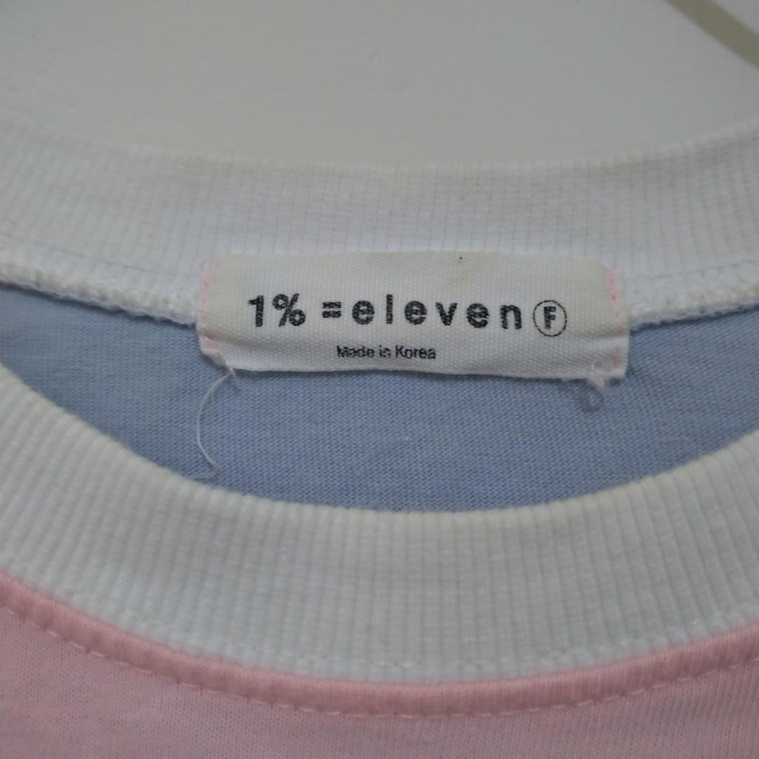 正韓 落肩 條紋 T 上衣 Oversize 寬鬆 粉藍 藍粉 粉紅 水藍 淺藍 淡藍 馬卡龍色