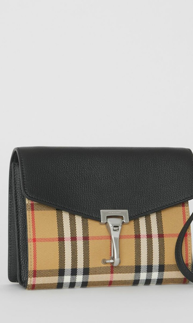 69d1fc258f9 ❤ Burberry Mini Leather and Vintage Check Crossbody Bag, Luxury ...