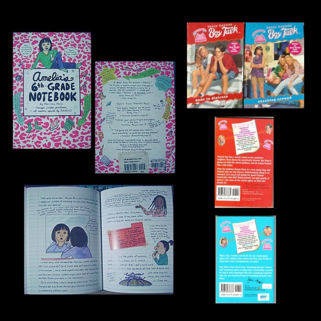 📚 ツ S/F % Amelia's 6th Grade Notebook, Boy Talk, Get It Together, Hello Gorgeous, Jacob Have I Loved, Shaper (H)