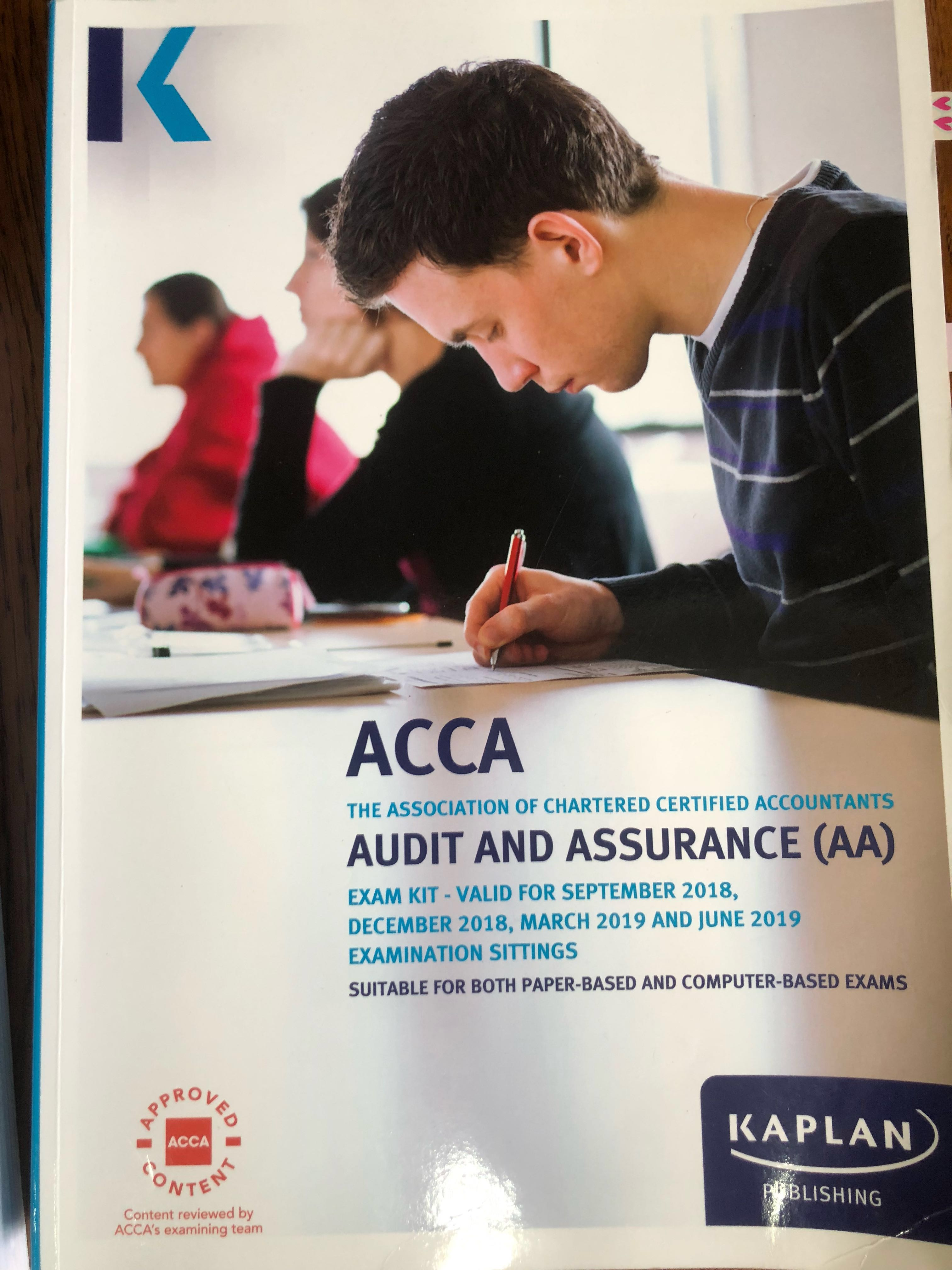 ACCA F8 Audit and Assurance textbook and exam kit