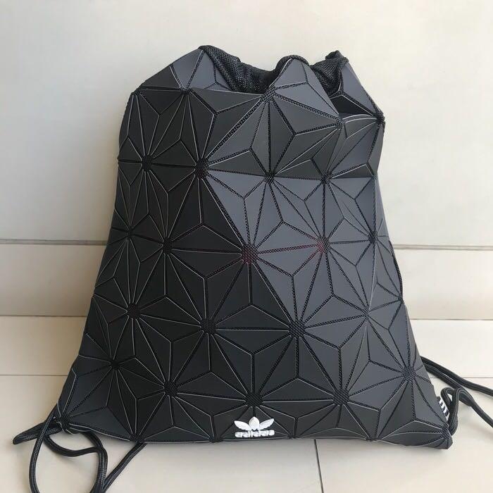 38448242fea Adidas 3D Gym Sack Issey Miyake Black, Men s Fashion, Men s Bags ...