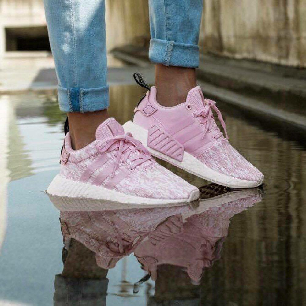 af156ef7f54e1f Adidas NMD R2 Womens Pink Wonder