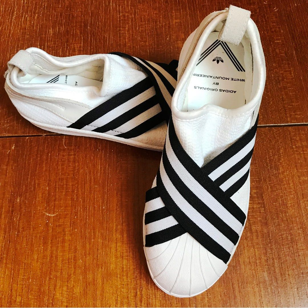 best loved 74dab d77e3 Adidas White Mountaineering - Superstar Slip On Sneakers White size uk4