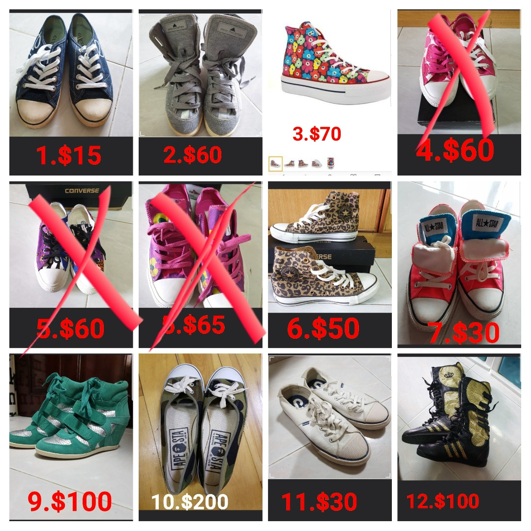 56a0ccee68b4a9 Assorted brands of sneakers and boots   Converse