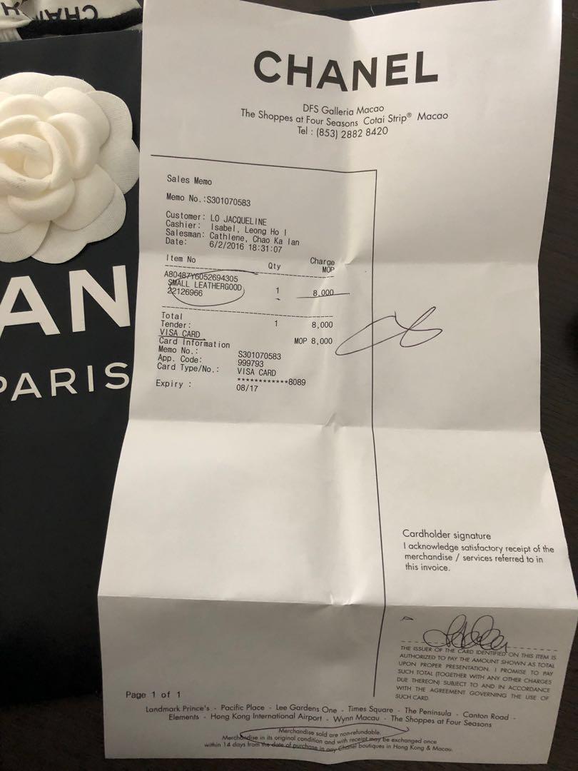 Authentic Chanel boy wallet in black