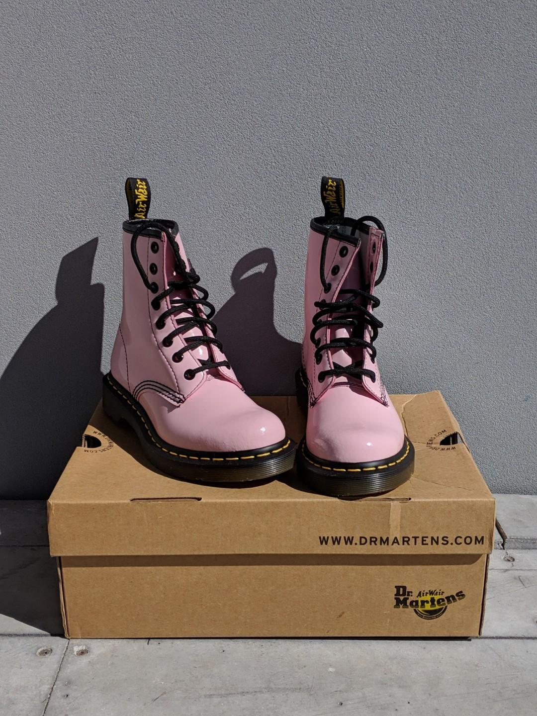 Baby Pink Patent Leather Dr Martens