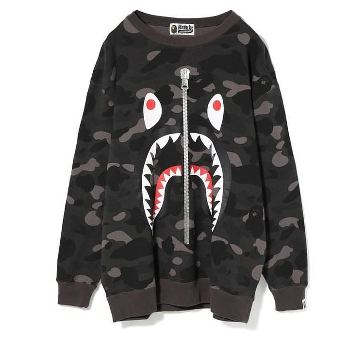 ee9fcabe BAPE Ladies Color Camo Shark Oversized Crewneck, Women's Fashion ...