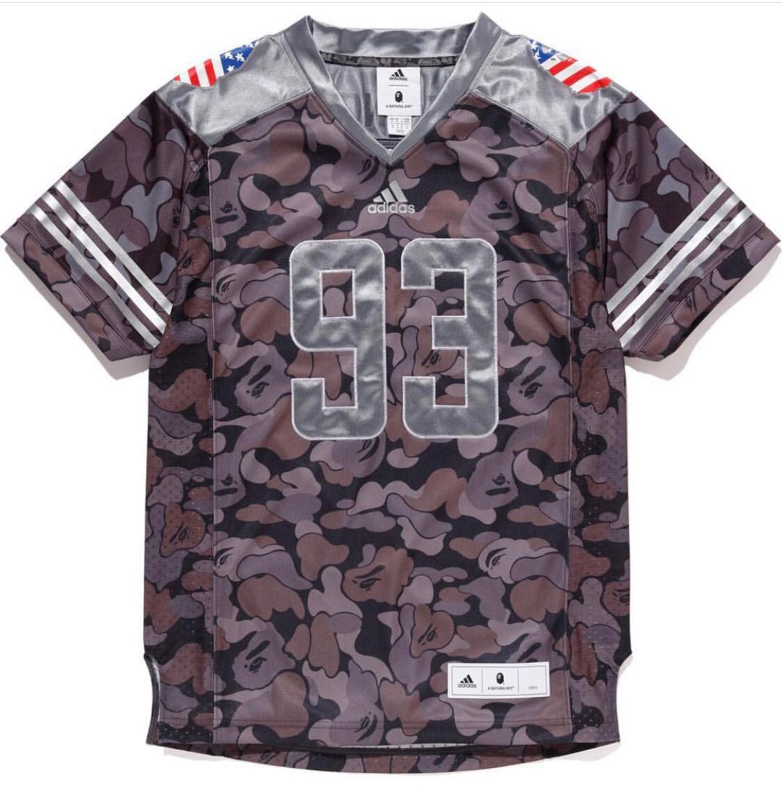 02f263b4 Bape x Adidas Football jersey Size M, Men's Fashion, Clothes, Tops ...