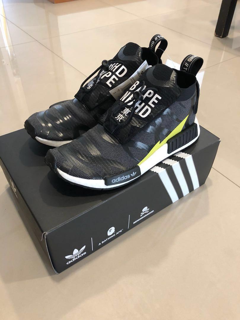 369723b19 Bape x NBHD x Adidas NMD TS1 (Stealth)