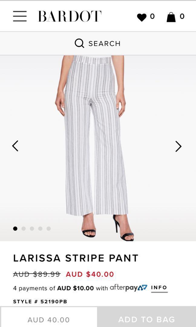Bardot Larissa Stripe Pants