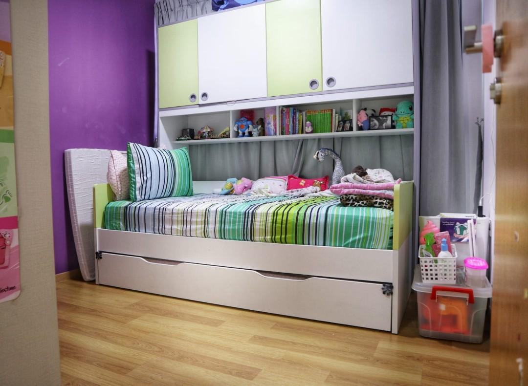 Children S Pull Out Bed With Storage