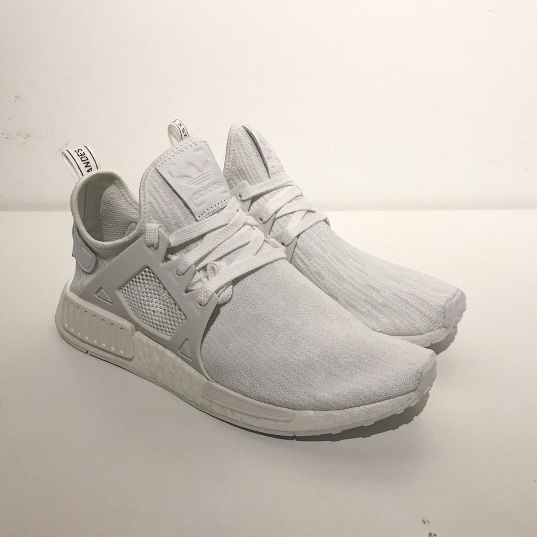 sports shoes dc34c e8269 DS Adidas NMD XR1 Primeknit Triple White US8.5, Men s Fashion, Footwear,  Sneakers on Carousell