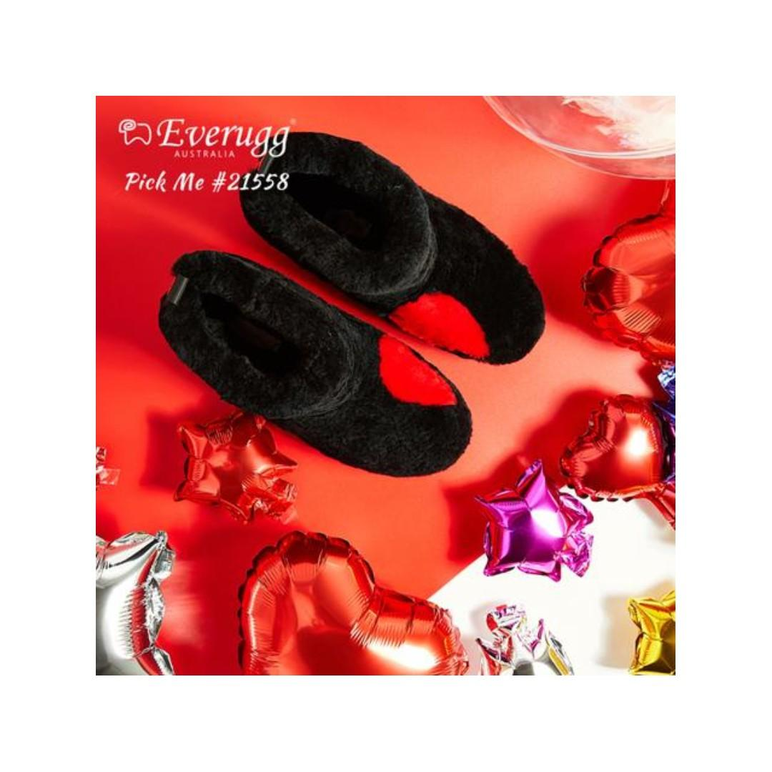 Everugg Pick Me,Heart start shape out,Australia sheepskin Ankle boots