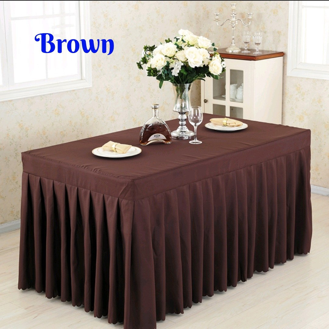 brown buffet table cloth luxury accessories others on carousell rh sg carousell com buffet table cloths white inexpensive buffet table cloths