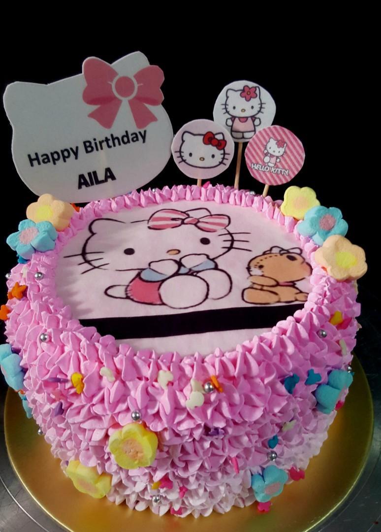 Hello Kitty Cake Edible Wafer Image Food Drinks Baked