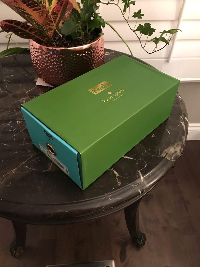 Kate Spade Brand New in Box 7.5 Silver Glitter Sneakers