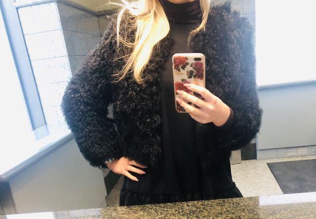 Mackage real fur coat
