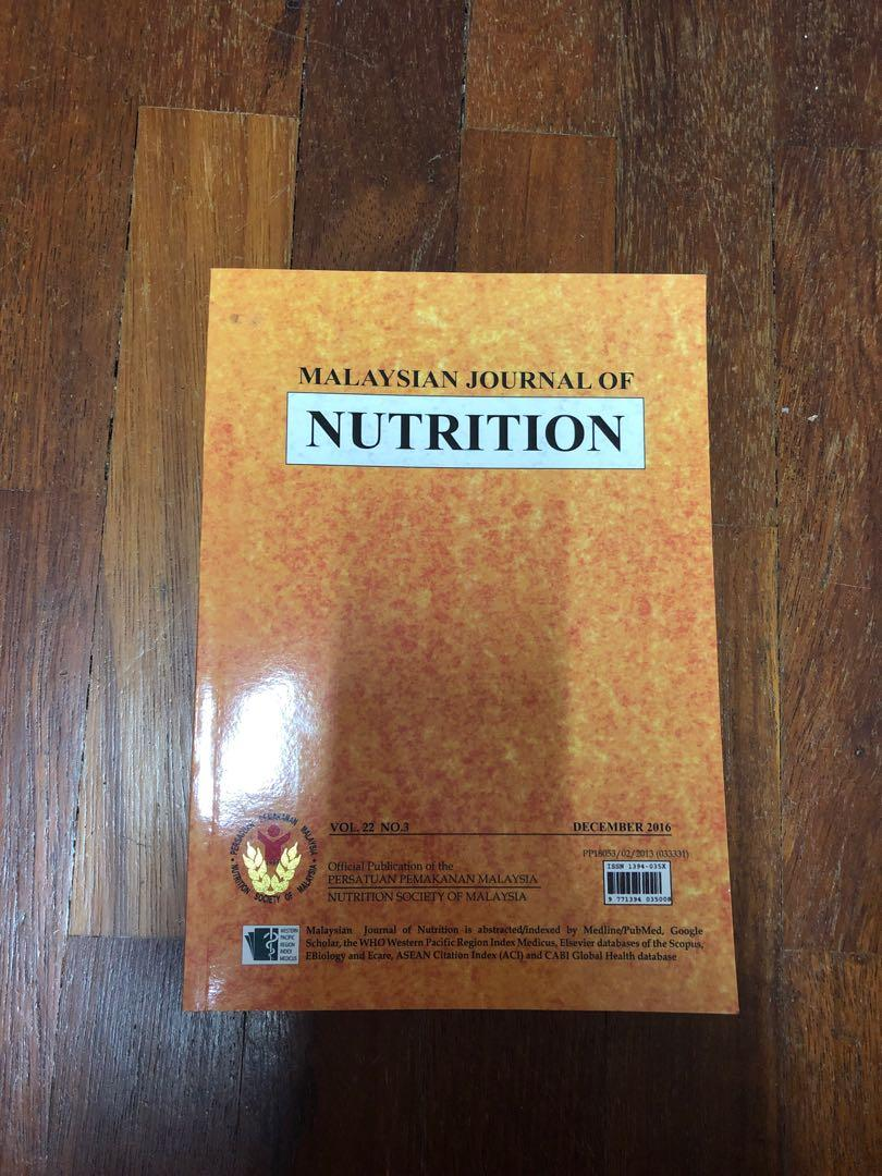 Malaysian Journal Of Nutrition Textbooks On Carousell