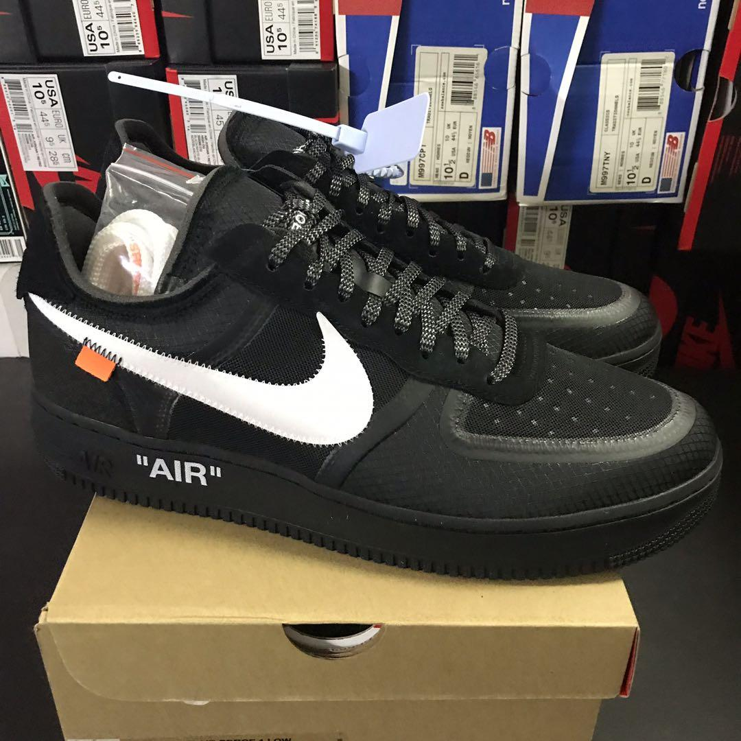 Nike x Off White Air Force 1 Black US 13, Men's Fashion
