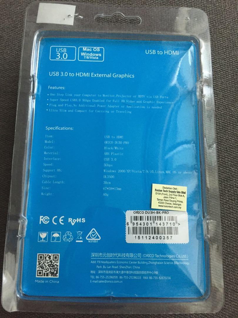 Orico USB 3.0 to HDMI External Graphics