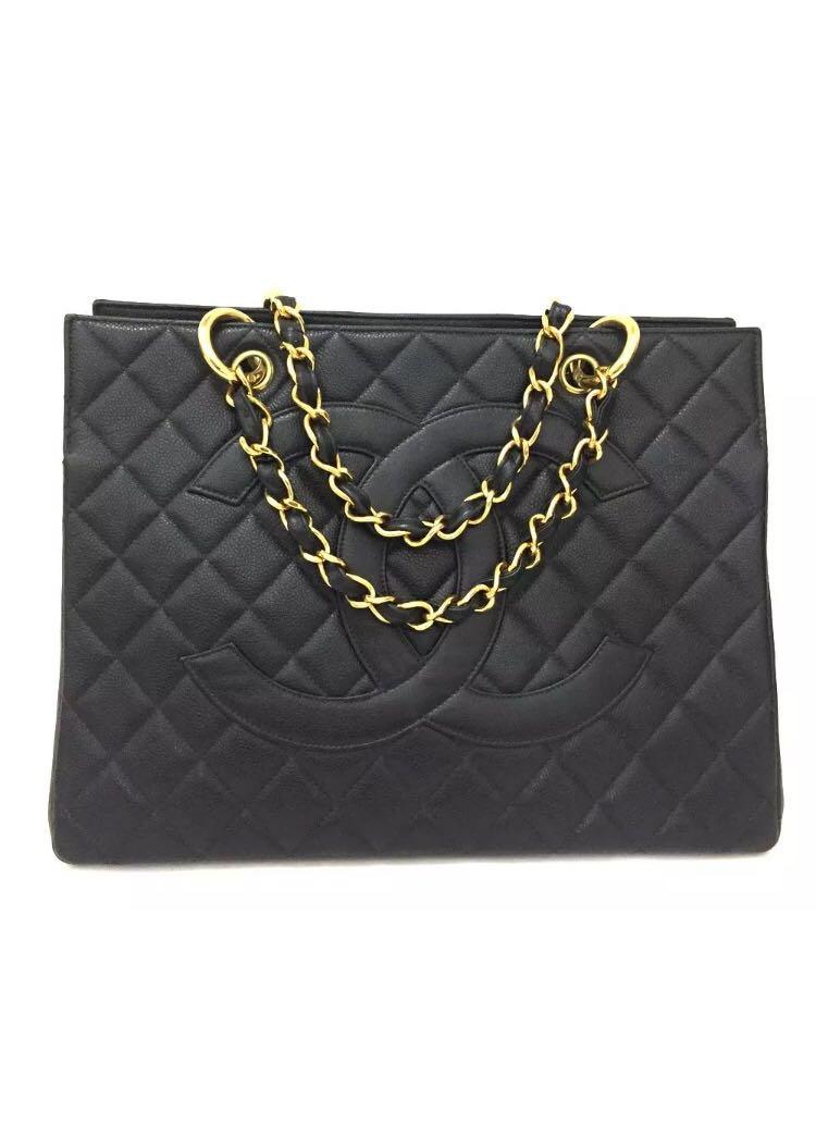 ea0e4bcabcf6be Chanel Vintage Caviar Tote, Luxury, Bags & Wallets, Handbags on Carousell