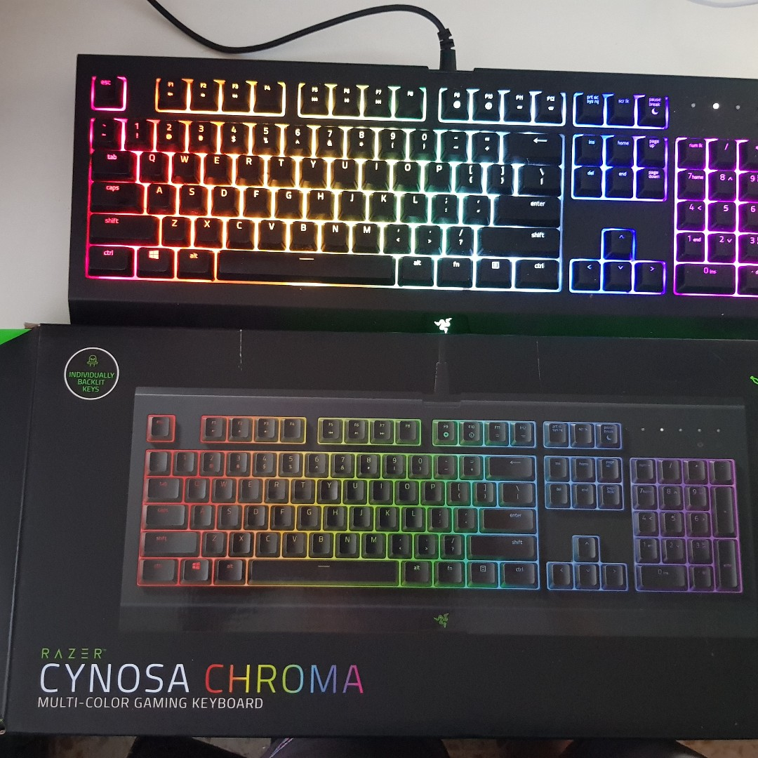 b4054212f8a Razer Cynosa Chroma gaming keyboard with multi-color, Toys & Games ...