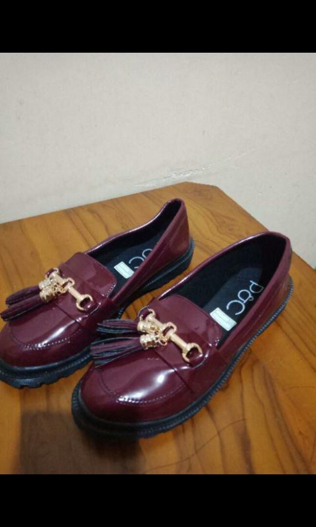 Sepatu wanita docmart repetto glossy / Tassel Loafer Shoes