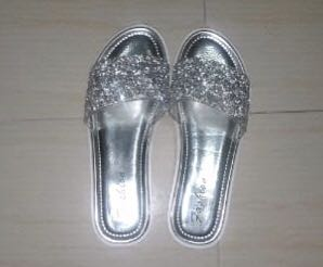 67348663c Silver bling slippers