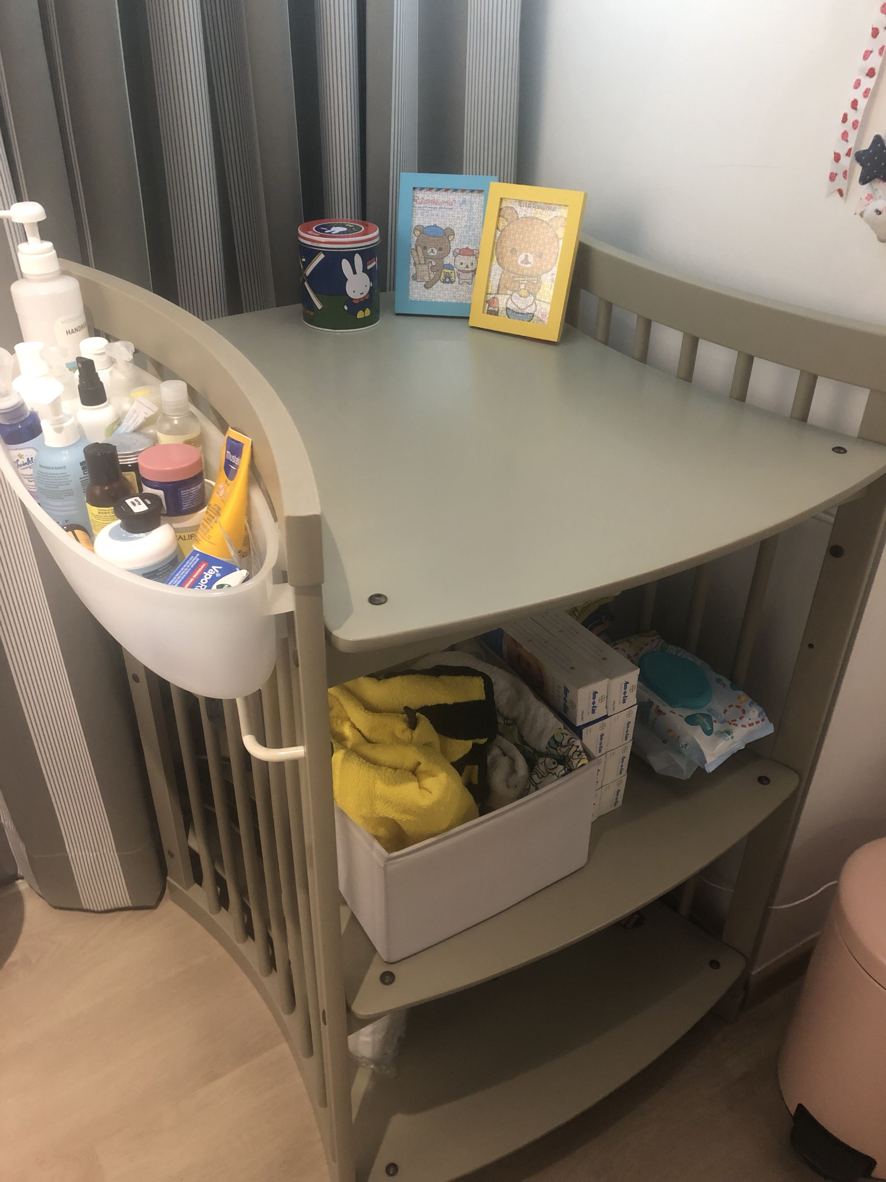 Stokke Care Changing Table In Storm Grey Babies Kids Cots Cribs On Carousell